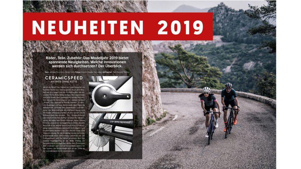 Neuheiten 2019: Ein Antrieb ohne Kette. E-Rennräder, neue Top-Räder