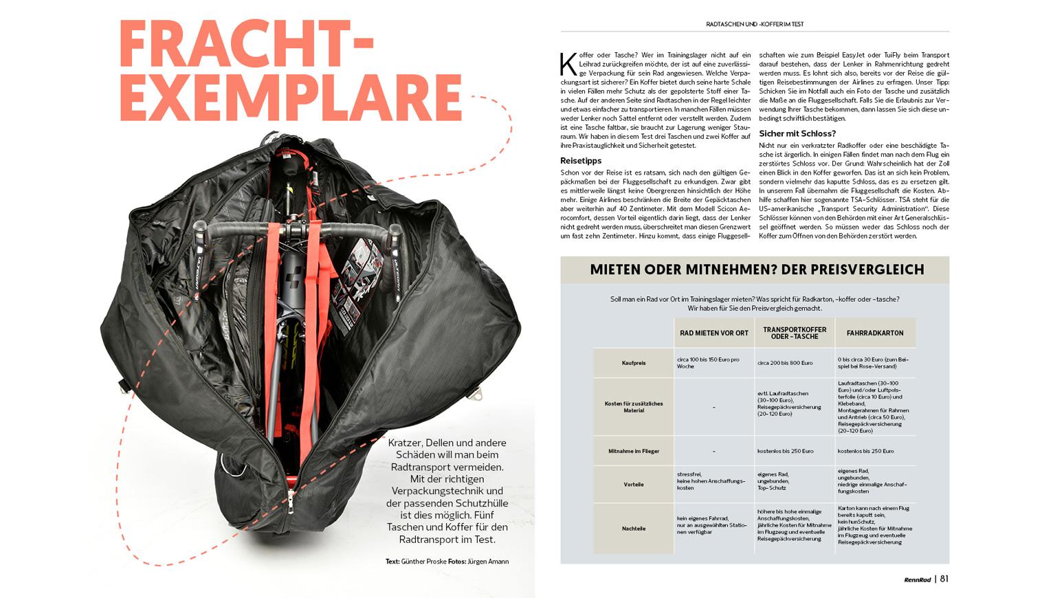 Radkoffer und Radtaschen im Test