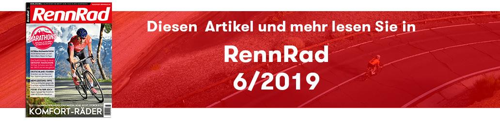 RennRad 6/2019, Banner
