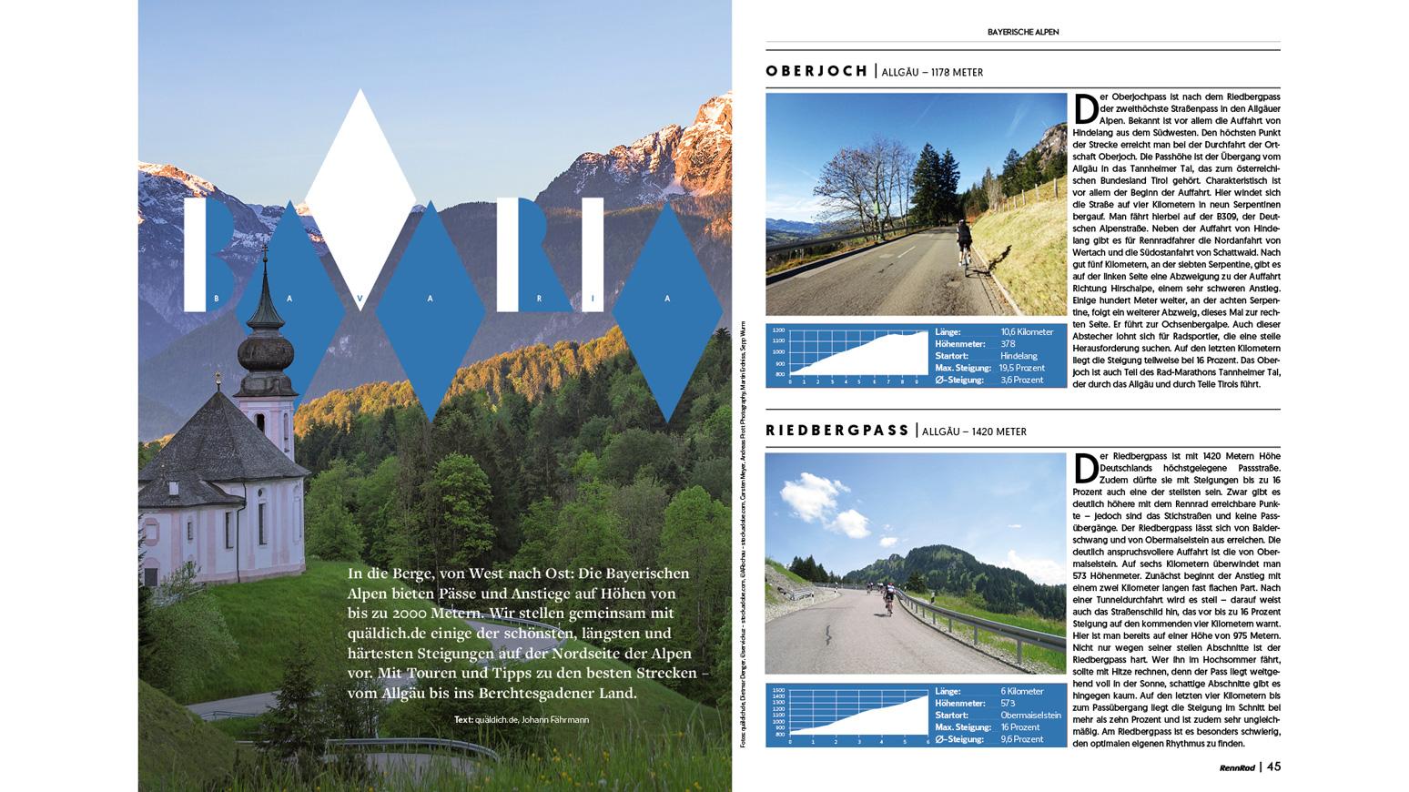 Berge-Bayerische-Alpen-Rennrad