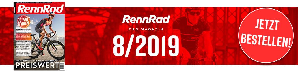 Banner, RennRad 8/2019, Ausgabe