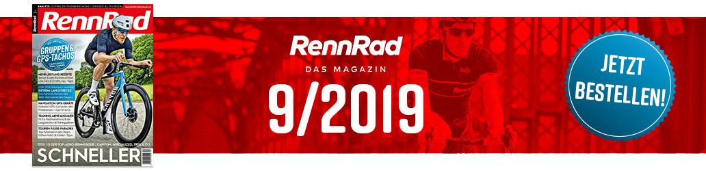 RennRad 9/2019, Banner