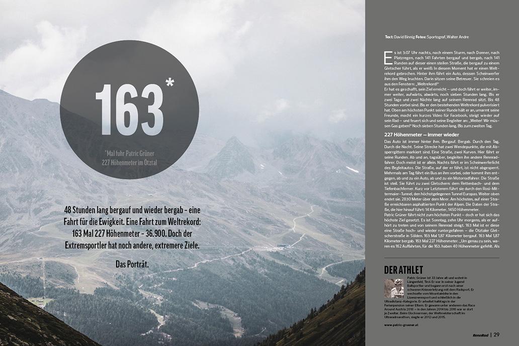 Höhenmeter-Weltrekord, RennRad 11-12/2019, Ausgabe