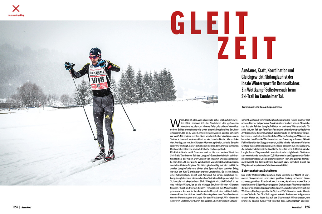 Loipe, Skilanglauf, Wintertraining, RennRad 11-12/2019