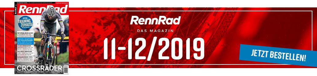 RennRad 11-12/2019, Ausgabe, Banner