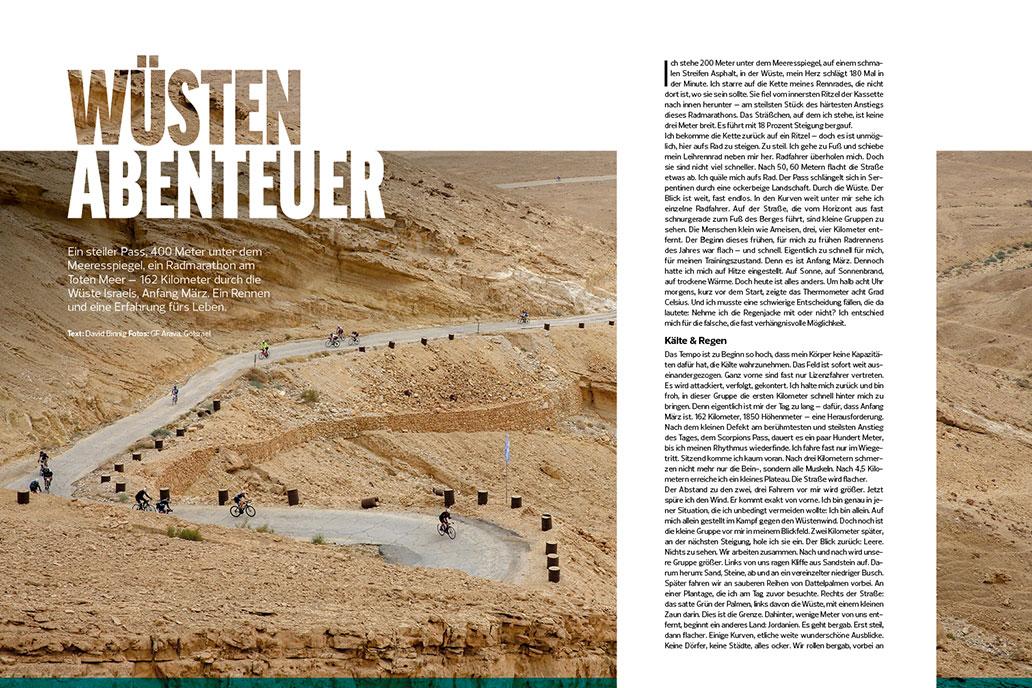 RennRad 1-2/2020, Wüsten-Abenteuer, Heftinhalt