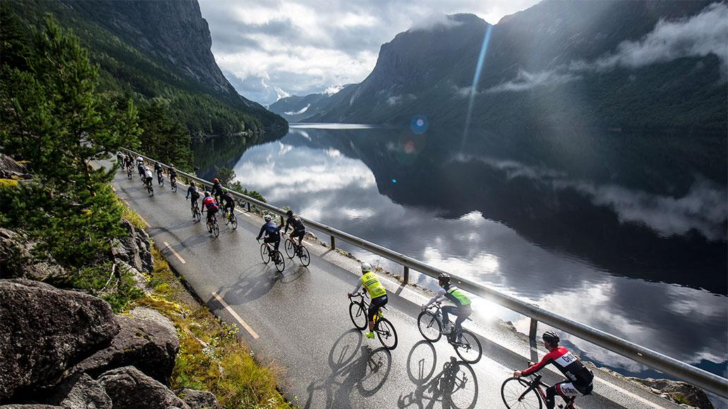 Rennrad-Traumziele, Lysevegen, Norwegen