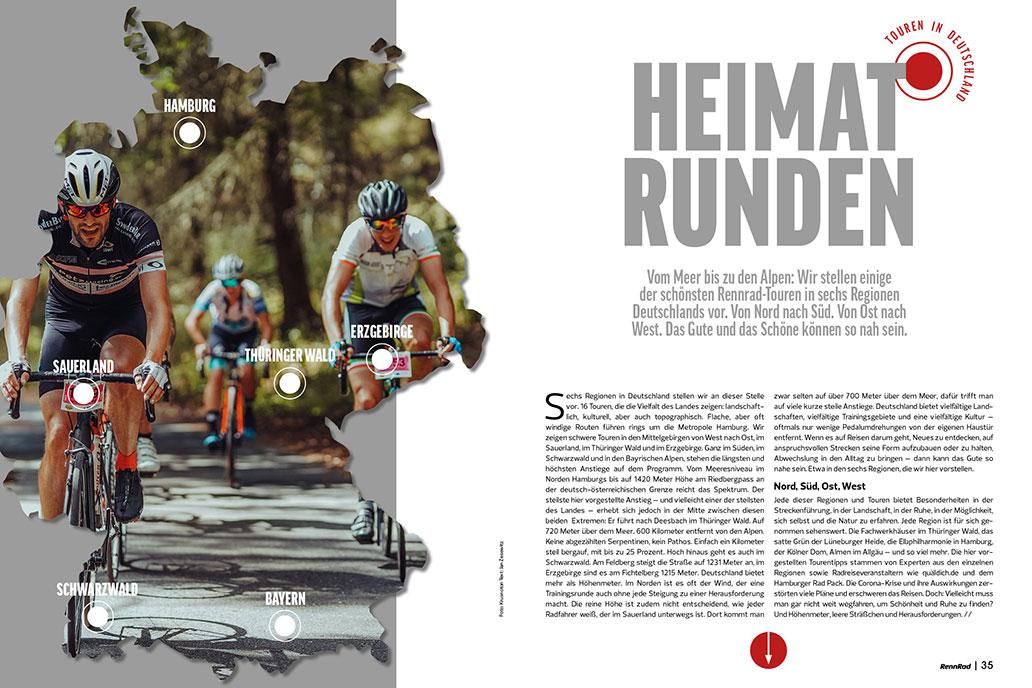 Top-Strecken in Deutschland, Touren, RennRad 7/2020