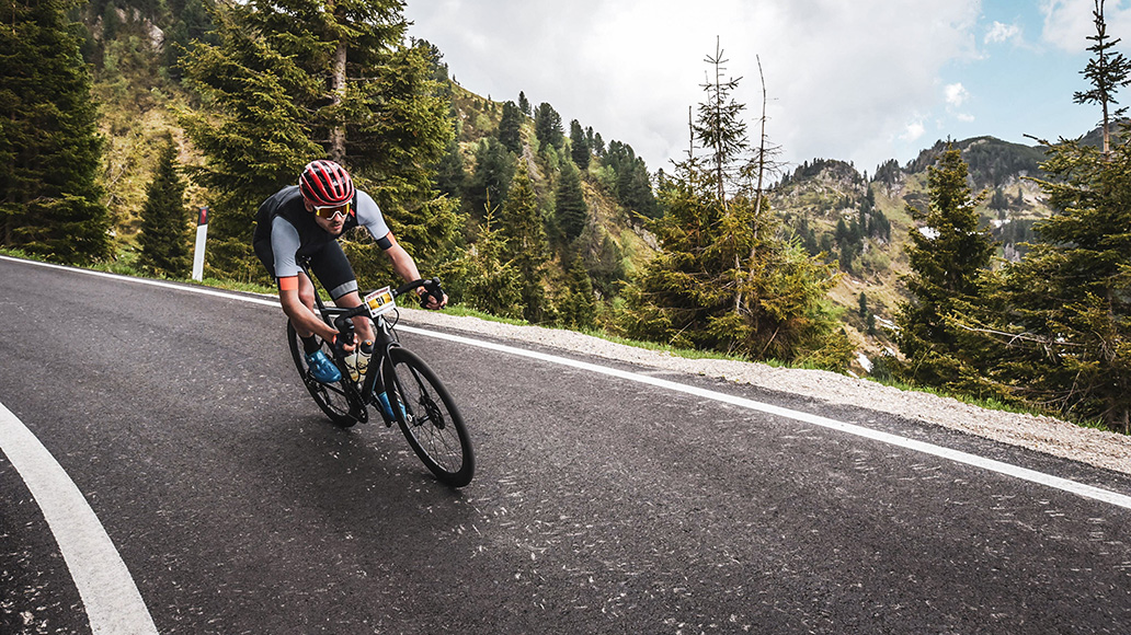 Sportful Dolomiti Race, Johann Fährmann, Abfahrt