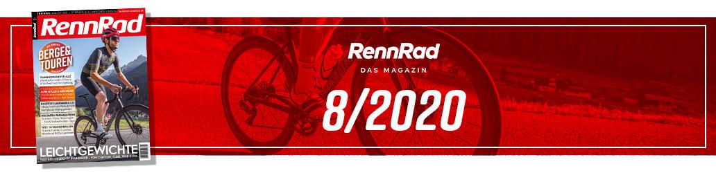 RennRad 8/2020, Banner, Heftinhalt