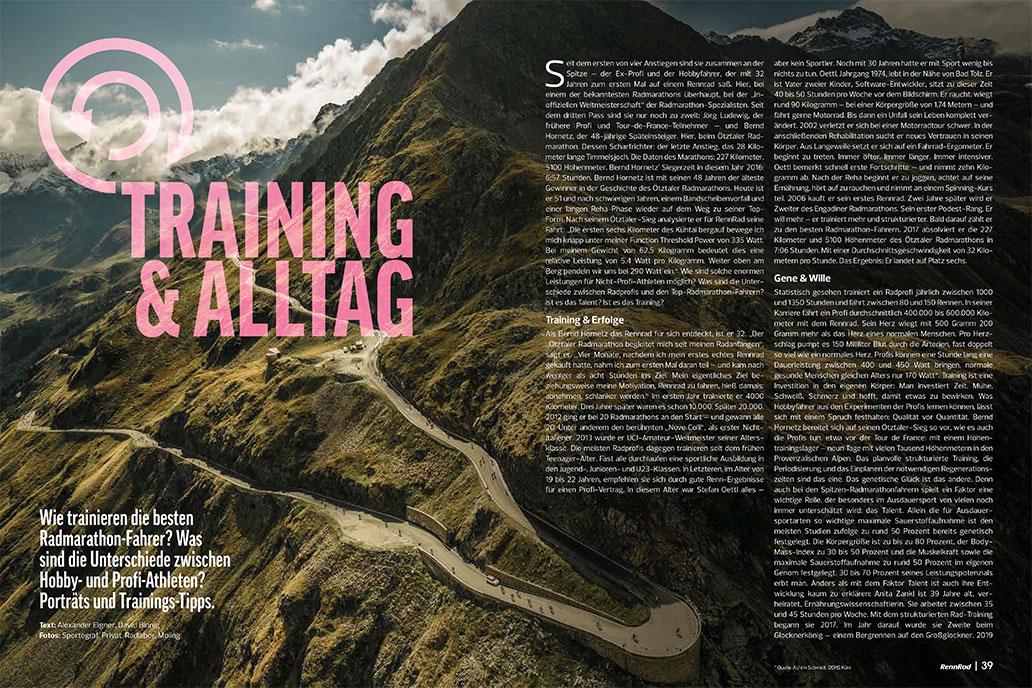 RennRad 9/2020, Heftinhalt, Radmarathons, Training