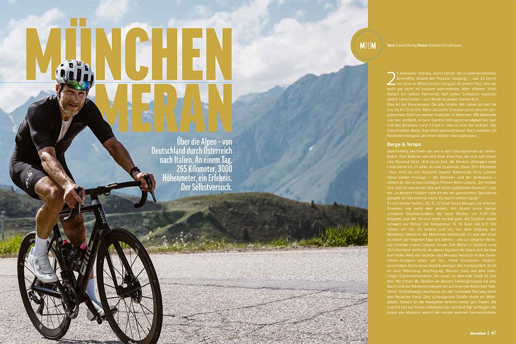 Alpen-Überquerung, München, Meran, RennRad 9/2020