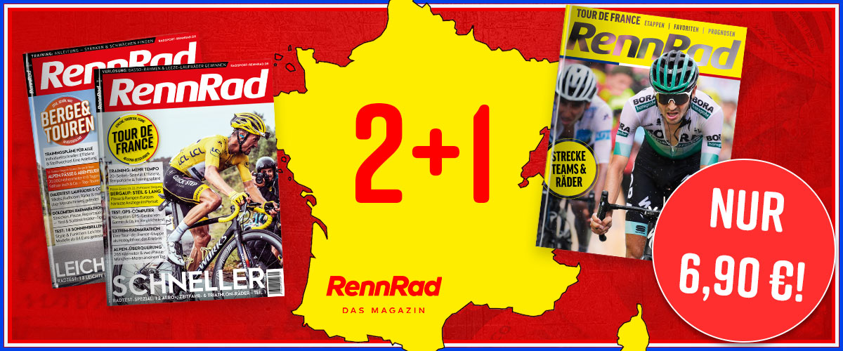 RennRad, Tour de France, Aboaktion, Banner