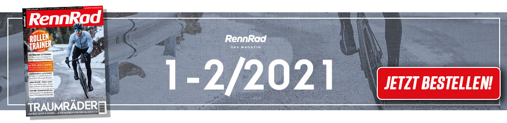 RennRad 1-2/2021, Test, Banner, Heftinhalt, Shop
