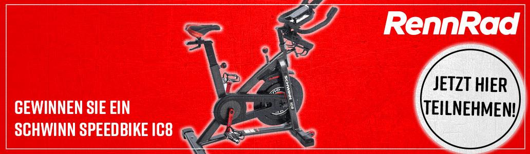 Schwinn Speedbike IC8, Verlosung, Gewinnspiel, Banner