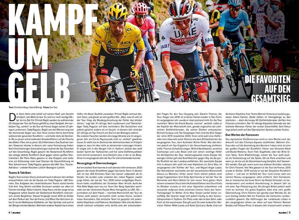 RennRad 7/2021, Tour de France, Sonderheft, Beileger