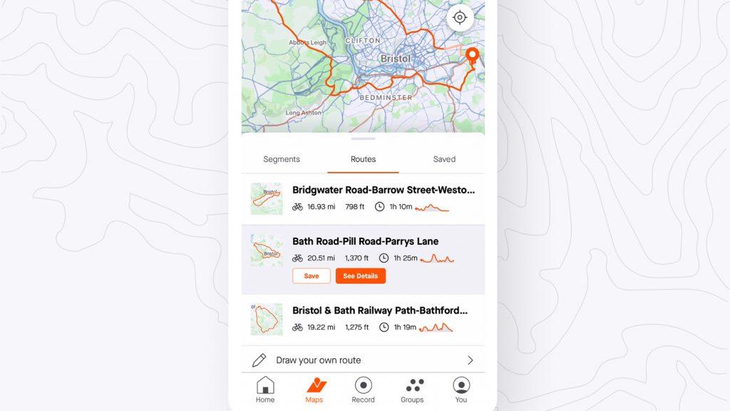 Strava-App: neue Routen-Funktionen