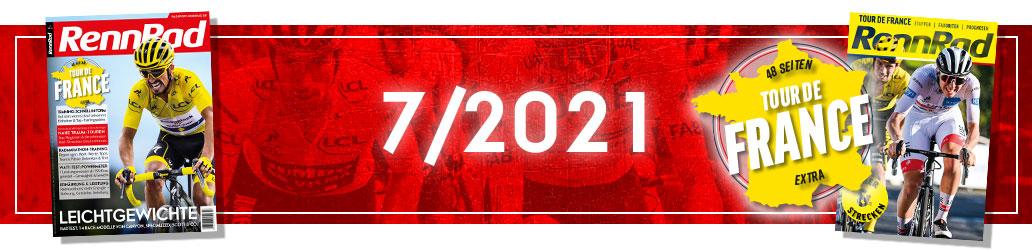 RennRad 7/2021, Tour de France, Leichte Rennräder, Banner