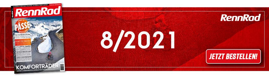 RennRad 8/2021, Heftinhalt, Banner